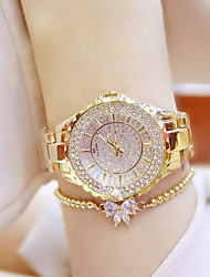 cheap -Women's Luxury Watches Wrist Watch Diamond Watch Quartz Ladies Casual Watch Analog Gold Silver / Stainless Steel / Stainless Steel / Japanese / Japanese