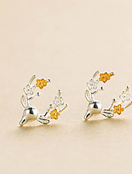 cheap -Men's Women's Stud Earrings Animal Sweet Hip-Hop Earrings Jewelry Silver For Christmas Daily