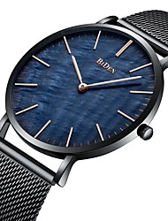 cheap -BIDEN Men's Wrist Watch Japanese Quartz Stainless Steel Black / Silver / Gold 30 m Water Resistant / Waterproof Analog Luxury Casual Fashion Minimalist Cool - Black / Blue Gold / White White / Silver