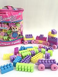 cheap -Building Blocks 110 pcs Train / Cartoon / Family Handbags / Cartoon Toy / Cartoon Design Train Boys' Gift