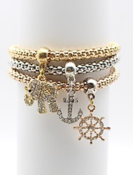 cheap -Women's Chain Bracelet Elephant Anchor Ladies Simple Elegant Alloy Bracelet Jewelry Gold For Daily Going out