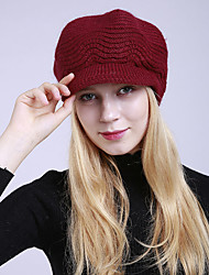 cheap -Women's Active Acrylic Roman Knit Floppy Hat-Striped Braided Winter Black Wine Light gray / Cute