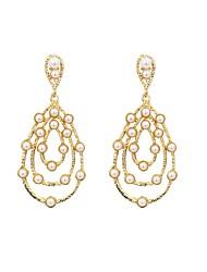 cheap -Women's Drop Earrings Ladies Fashion Pearl Earrings Jewelry Gold For Graduation Daily