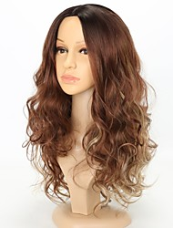 cheap -Synthetic Wig Cosplay Wig Curly Water Wave Water Wave Curly Wig Long Brown Synthetic Hair Women's Ombre Hair Natural Hairline Brown