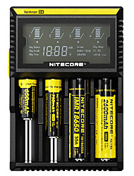 cheap -Nitecore D4 Battery Charger Smart Integrated LCD Panel Displays for Li-ion, Ni-Cd, Ni-MH Protected Circuit, Short Circuit Protection, Over Charging Protection USA UK EU Plug Options 10440,14500,16340