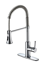 cheap -Kitchen faucet Chrome Deck Mounted Contemporary / Classic Style Kitchen Taps / Brass / CUPC / UPC