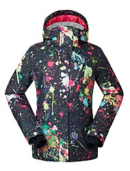 cheap -GSOU SNOW Women's Ski Jacket Skiing Ski / Snowboard Waterproof Windproof Warm Eco-friendly Polyester Silk Cloth Down Jacket Ski Wear / Winter / Camo / Camouflage