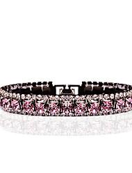 cheap -Women's Synthetic Amethyst Chain Bracelet Tennis Bracelet Cubic Zirconia Bracelet Jewelry Light Purple For Wedding Evening Party / Rhinestone