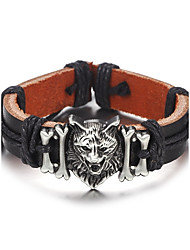 cheap -Men's Leather Bracelet Rope Simple Hip-Hop Leather Bracelet Jewelry Black / Brown For Daily Casual