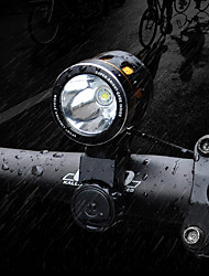 cheap -LED Bike Light Front Bike Light LED Mountain Bike MTB Bicycle Cycling Waterproof Multiple Modes Super Brightest Portable Lithium Battery 1000 lm Rechargeable Battery White Camping / Hiking / Caving