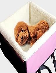 """Недорогие -Кошка Собака Коврик против скольжения Чехол для сидения автомобиля Компактность Сохраняет тепло Складной Однотонный Ткань """"Оксфорд"""" Розовый"""