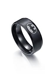 Недорогие -Муж. Кольцо 1 Черный Нержавеющая сталь Вольфрамовая сталь Металл Круглый Первоначальные ювелирные изделия градация Повседневные Бижутерия