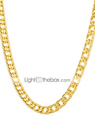 cheap -Women's Chain Necklace Beaded Necklace Hip-Hop Copper Gold Plated Metal Gold Necklace Jewelry For Party Daily