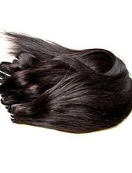 Недорогие -Не подвергавшиеся окрашиванию плетение волос / Пряди натуральных волос Реми Для темнокожих женщин / 100% девственница / Необработанные Прямой / Классика Бразильские волосы / Связки 300 g 1 год / 12