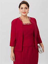cheap -3/4 Length Sleeve Chiffon Wedding / Party / Evening Women's Wrap With Beading Coats / Jackets
