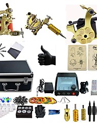 cheap -BaseKey Professional Tattoo Kit Tattoo Machine - 3 pcs Tattoo Machines, Professional LED power supply 3 alloy machine liner & shader / Case Included