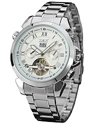 cheap -Men's Wrist Watch Automatic self-winding Stainless Steel Silver Calendar / date / day Cool Analog Classic Casual Fashion - Silver / Black Black / White Silvery / White