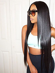 cheap -Human Hair Lace Front Wig Kardashian style Brazilian Hair Straight Wig 130% Density with Baby Hair 100% Virgin Women's Medium Length Long Human Hair Lace Wig