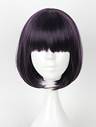 cheap -Cosplay Cosplay Cosplay Wigs Men's Women's 14 inch Heat Resistant Fiber Purple Anime