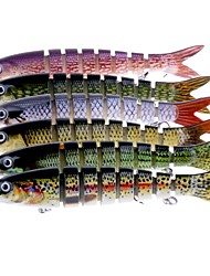 cheap -1 pcs Fishing Lures Hard Bait Floating Bass Trout Pike Sea Fishing Fly Fishing Bait Casting