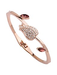 cheap -Women's Bracelet Bangles Cuff Bracelet Flower Ladies Fashion Elegant Gold Plated Bracelet Jewelry Rose Gold For Gift Daily