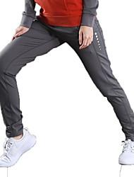 Недорогие -Жен. Брюки для бега Спортивные штаны Спортивные штаны Хлопок Виды спорта Брюки Бег Аэробика и фитнес Растровые точки Однотонный Черный Серый