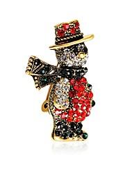 Недорогие -Муж. Жен. Броши Дамы Циркон Позолота Брошь Бижутерия Разные цвета Назначение Рождество Новый год