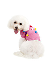 cheap -Cat Dog Sweater Winter Dog Clothes Pink Gray Costume Chinlon Polka Dot Casual / Daily Keep Warm XS S M L XL