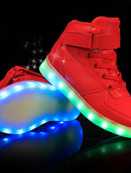 cheap -Boys USB Charging  LED / Comfort / LED Shoes PU Sneakers Little Kids(4-7ys) / Big Kids(7years +) LED Black / White / Red Spring & Summer / Party & Evening / TR