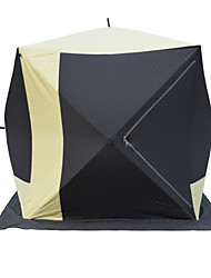 cheap -4 person Fishing Tent Outdoor Windproof Wearable Folding Triple Layered Camping Tent <1000 mm for Fishing Camping / Hiking / Caving Padded Fabric Terylene 180*180*200 cm