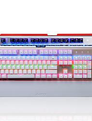 Недорогие -AJAZZ AK49 USB Проводной Механическая клавиатура Игровые клавиатуры Программируемый Светящийся RGB подсветка 104 pcs Ключи