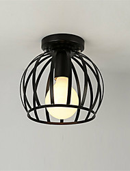 cheap -1-Light Vintage Industrial Ceiling Light Style Metal Cage Shade Art Painted Finish