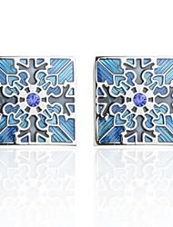 Недорогие -Запонки Цветы Романтика Брошь Бижутерия Синий Назначение Новый год
