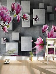 Недорогие -Магнолия квадраты на заказ 3d большие настенные покрытия фрески обои подходят ресторан телевизор фон цветок дерево