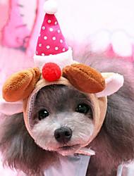 cheap -Dog Hats, Caps & Bandanas Dog Clothes Christmas Plush Fabric Costume For Spring &  Fall Winter Men's Women's Christmas