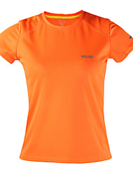 cheap -Arsuxeo Women's Crew Neck Running Shirt Yoga Fitness Gym Workout Top Short Sleeve Activewear Breathable Quick Dry Antistatic Static-free Lightweight Materials Inelastic / Reflective Strips