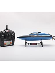 Недорогие -Лодка на радиоуправлении TKKJ H100 Быстроходный катер 4 pcs каналы 30 km/h КМ / Ч