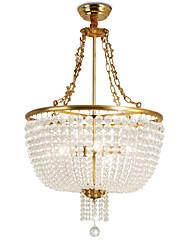 cheap -OBSESS® 6-Light 50 cm Crystal / Anti-Glare Pendant Light Metal Polished Brass Modern Contemporary 110-120V / 220-240V