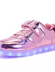 cheap -Girls' LED / Comfort / LED Shoes PU Sneakers Little Kids(4-7ys) / Big Kids(7years +) Lace-up / LED / Luminous Black / Red / Pink Fall / Winter / TR / EU36