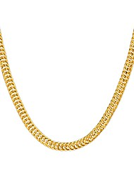 cheap -Women's Chain Necklace Beaded Necklace Foxtail chain Hip-Hop Copper Gold Plated Metal Gold Necklace Jewelry For Party Daily