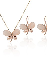 cheap -Women's Opal Drop Earrings Necklace Dragonfly Classic Fashion Opal Imitation Diamond Earrings Jewelry Gold For Daily