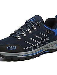 cheap -Men's Suede Shoes Suede Spring Athletic Shoes Hiking Shoes Black / Dark Grey / Dark Blue