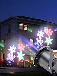 cheap -U'King Disco Lights Party Light LED Stage Light / Spot Light Auto 4 W Outdoor / Party / Stage Christmas / Professional / Snowflake RGB+White for Dance Party Wedding DJ Disco Show Lighting