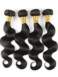 cheap -4 Bundles Brazilian Hair Body Wave Remy Human Hair Natural Color Hair Weaves / Hair Bulk 12-18 inch Human Hair Weaves Odor Free Natural Best Quality Human Hair Extensions / Short