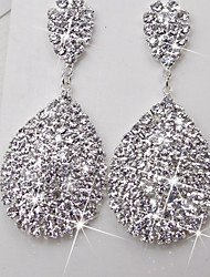 cheap -Women's Drop Earrings Classic Pave Star Statement Ladies Elegant Bling Bling Iced Out Rhinestone Earrings Jewelry Silver For Wedding Ceremony Stage Masquerade Engagement Party Prom