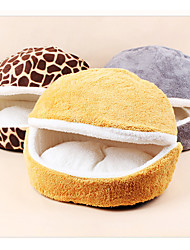 cheap -Cat Bed Solid Colored Plush Fabric for Large Medium Small Dogs and Cats