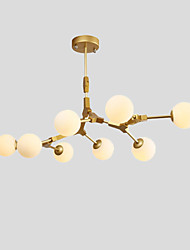cheap -8-Light Northern Europe Vintage Chandelier 8-Head Glass Molecules Pendant Lights Living Room Dining Room G4 Bulb Base
