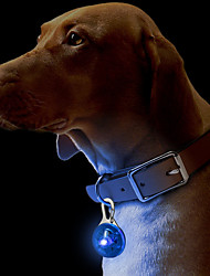 cheap -Cat Dog Collar Tag LED Lights Safety Solid Colored Plastic Green Blue Pink