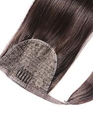 cheap -Ponytails Human Hair Hair Piece Hair Extension Straight