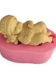Недорогие -3d спящего ребенка мыло плесень помадка плесень украшения торта плесень